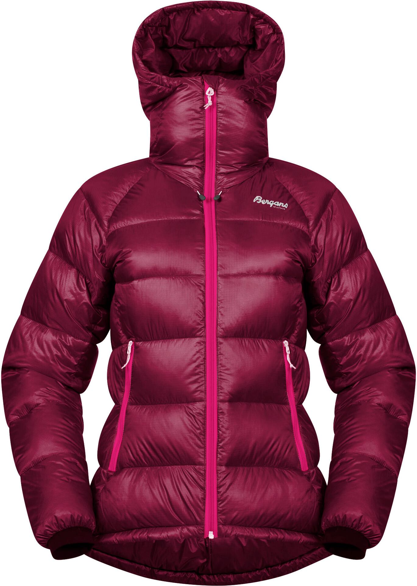 Bergans Slingsby Down Light Jacket with Hood Women purple velvet//beet red 2019 winter jacket